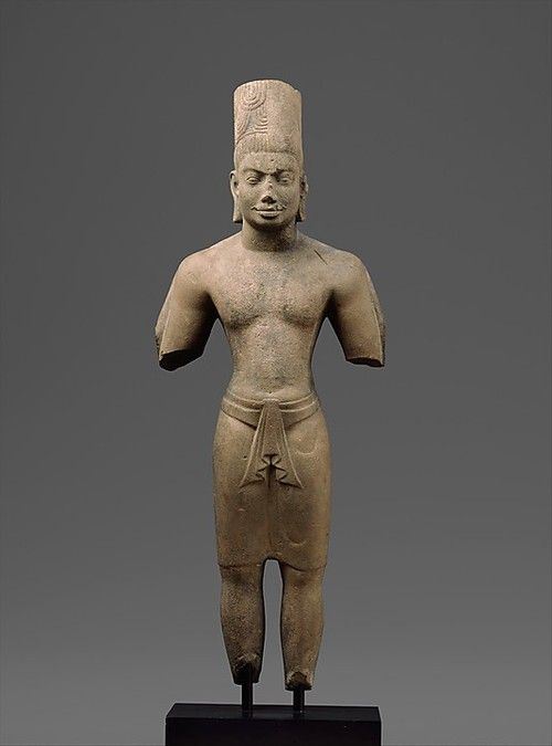 Standing Hari-Hara. Date: late 7th–early 8th century. Cambodia or Vietnam…