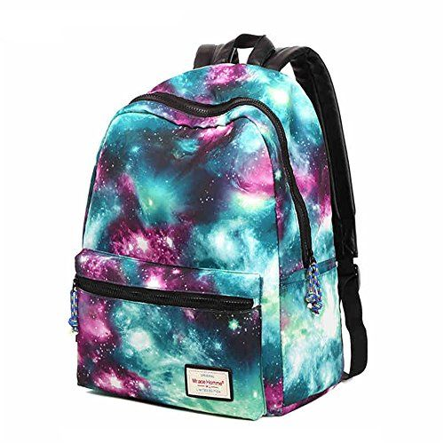 HotStyle TrendyMax Galaxy Pattern Vintage Style Unisex Fashion Casual School Travel Laptop Backpack Rucksack Daypack Tablet Bags (green)  - Click image twice for more info - See a larger selection of kids hiking day back packs at   http://kidsbackpackstore.com/product-category/kids-hiking-daybackpacks/ -  kids, juniors, back to school, kids fashion ideas, school supplies, backpack, bag , teenagers,  boys, girls  gift ideas,school bag,outdoor, travel