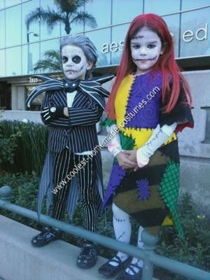 Coolest Homemade Jack Skellington and Sally Halloween Couple Costume Idea 54
