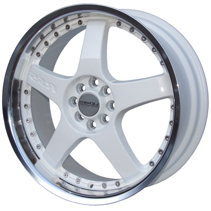 LENSO RS5 WHITE  MIRROR LIP alloy wheels with stunning look for 5 studd wheels in WHITE  MIRROR LIP finish with 17 inch rim size