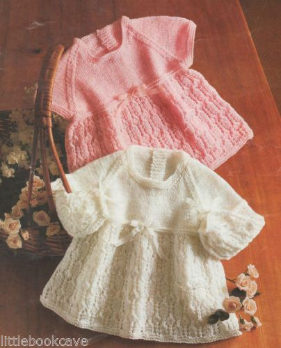 Knitting Jobs London : Vintage baby dress knitting pattern ebay uk images frompo