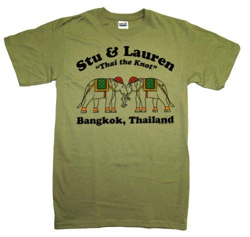The Hangover 2 Stu And Lauren Thai the Knot T-Shirt M @ niftywarehouse.com #NiftyWarehouse #Hangover #TheHangover #Movies #Comedy