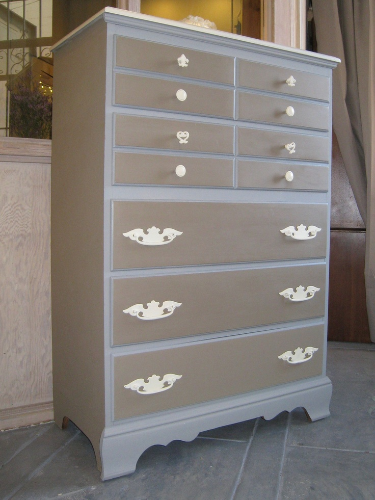 Best Dresser Painted In Shades Of Brown Grey With White 400 x 300