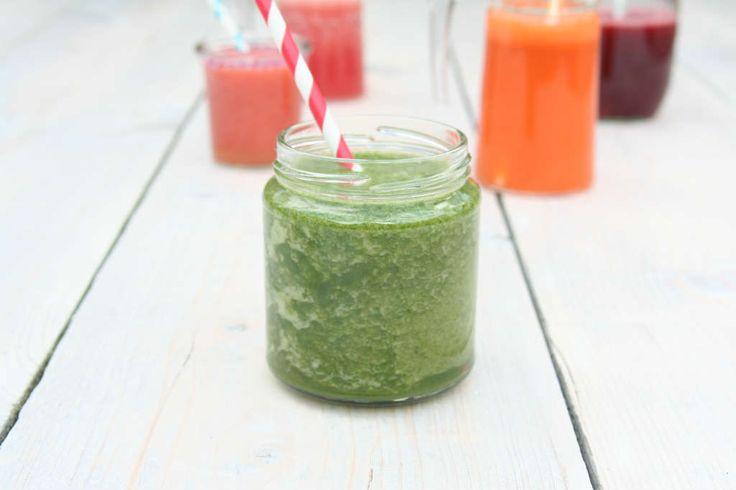 Gezond spinazie komkommersap