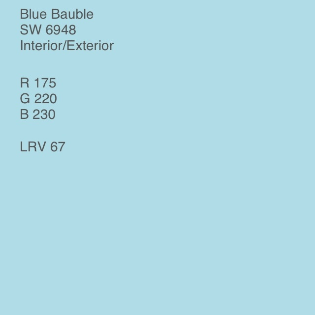 Sherwin Williams Blue Bauble blue bauble - sherwin williams colors i