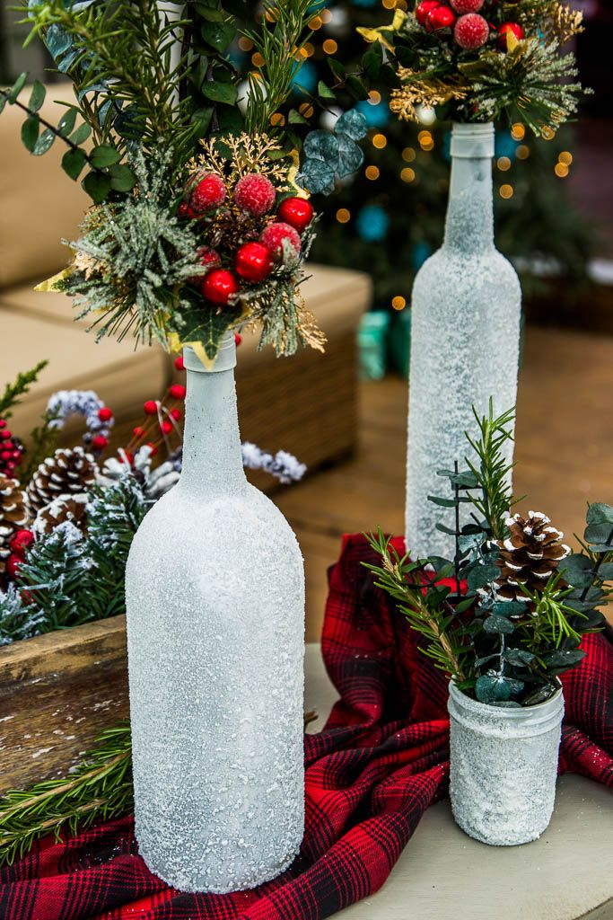 DIY Snow Vases from @monicapotterpin! Tune in to #homeandfamily weekdays at 10/9c on Hallmark Channel!