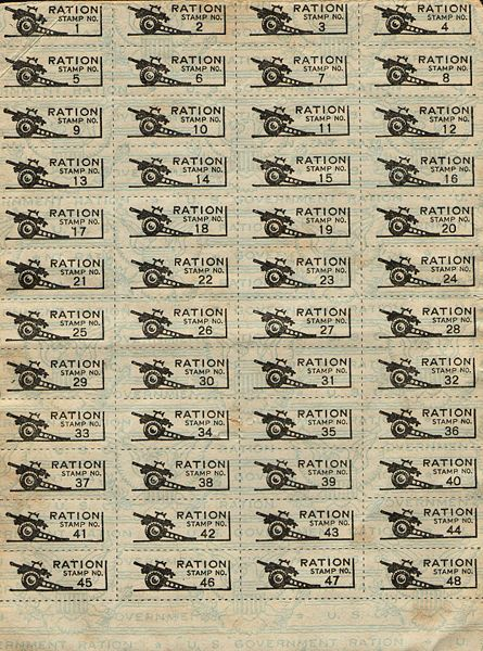 World War II Ration Stamps