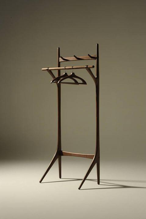 takumi kohgei series creer hanger rack w94cm x d45cm x h190cm material walnut