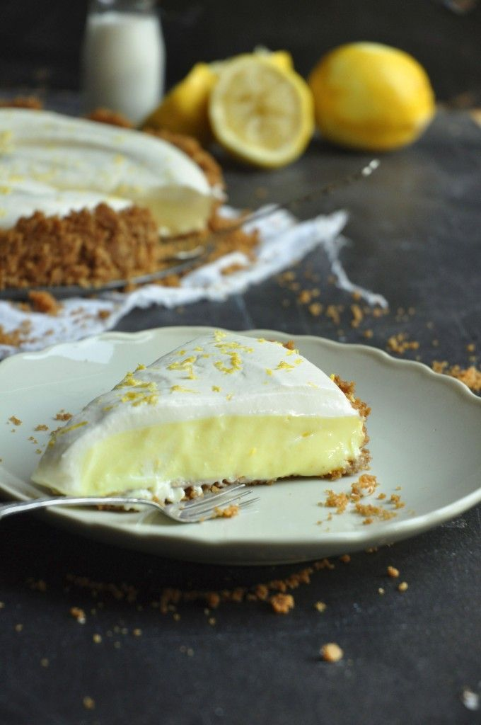My Easy Cooking blog - Lemon yoghurt tart on a ginger biscuit base with cream and lemon zest topping.