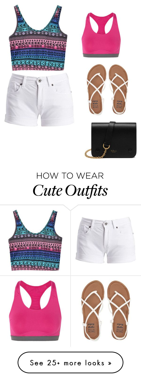 """Cute Summer Outfit"" by lsantana13 on Polyvore featuring Barbour International, NIKE, Mulberry and Billabong"