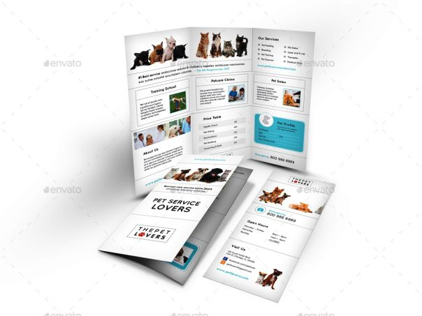 7 Best Pet Brochures Templates Download Images On Pinterest