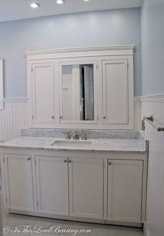 Website Photo Gallery Examples built in medicine cabinet over the sink Would redesign to put mirrors for