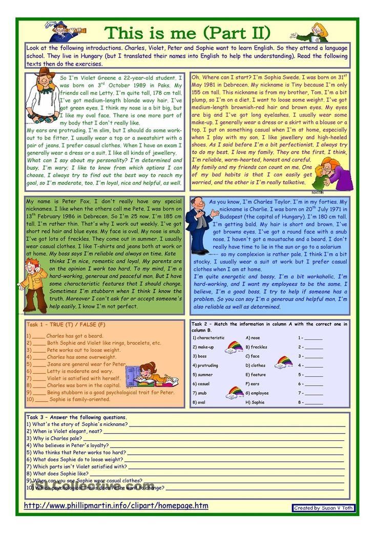 922 best images on pinterest english language learning this is me part 2 reading comprehension for adults lower intermediate level with key fully editable worksheet free esl printable ibookread Download
