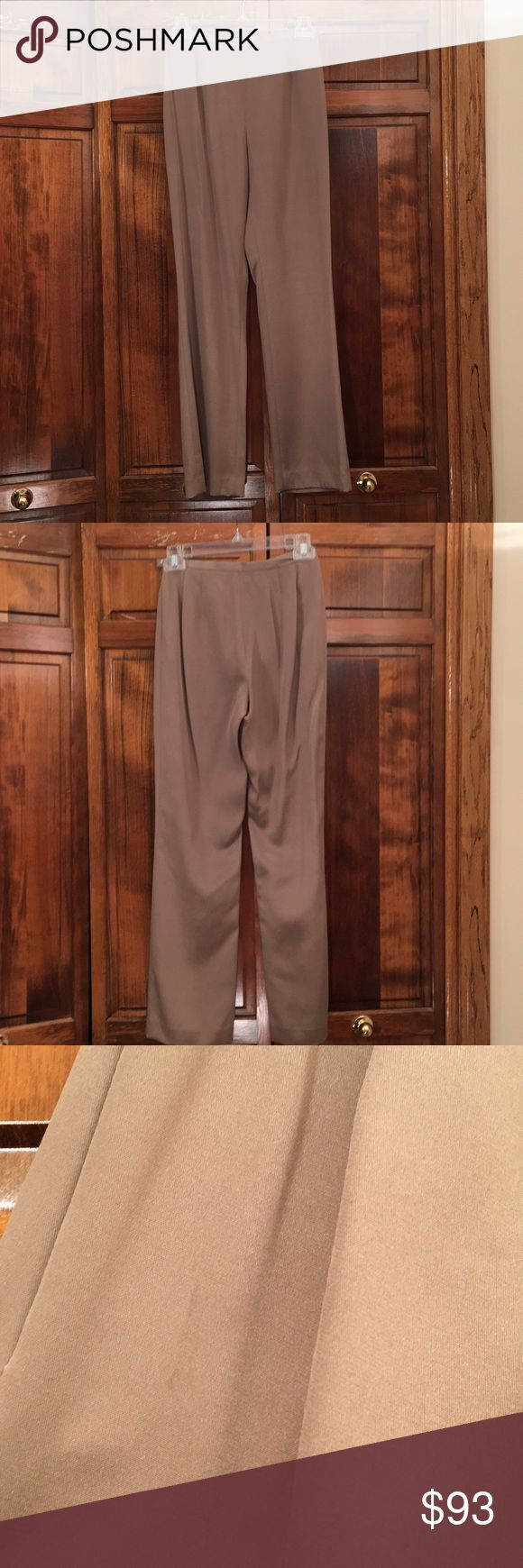 Lafayette 148 New York brown slacks. Lafayette 148 New York brown slacks, small stain on front by zipper, Measurements. Pant: 38 1/2 in. Inseam: 29 in. Waist: 25 in. Lafayette 148 New York Pants Trousers