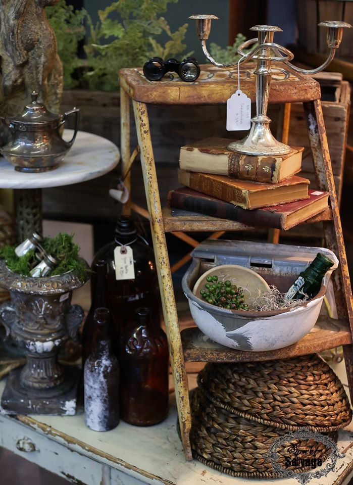 Sweet Salvage on 7th Ave. Awesome antique vintage store display. Visual merchandising.