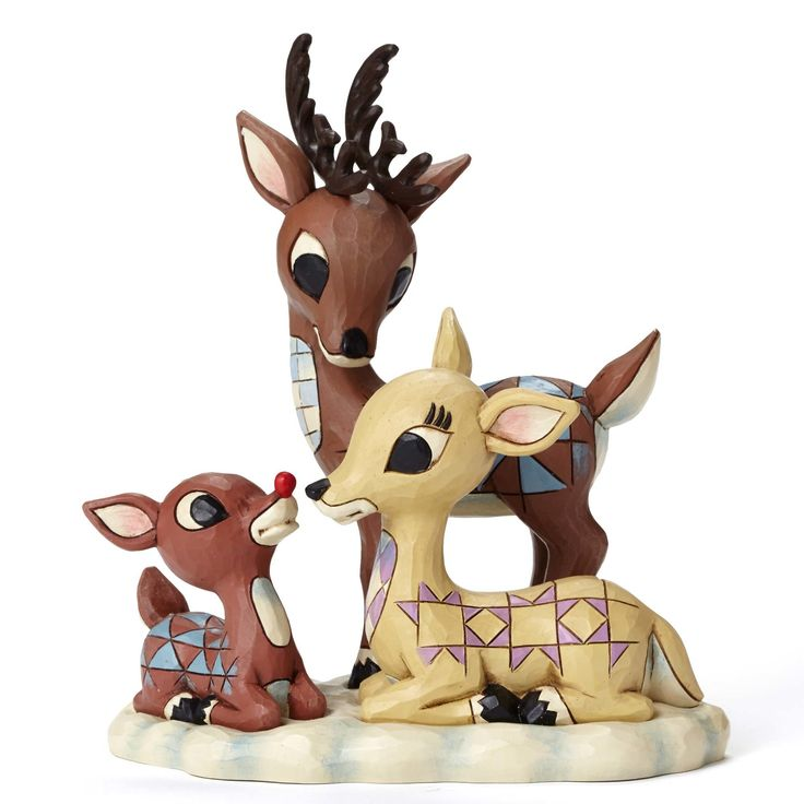 Rudolph Traditions by Jim Shore Rudolph with Donner and Mother