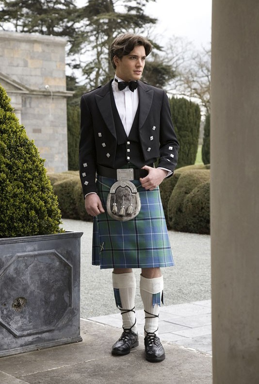 Formal ~ Ancient douglas kilt.  Would base bridesmaid and groomsmen colors on these  blue and green colors.