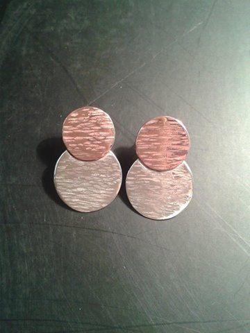 aros plata y cobre solange gonzales