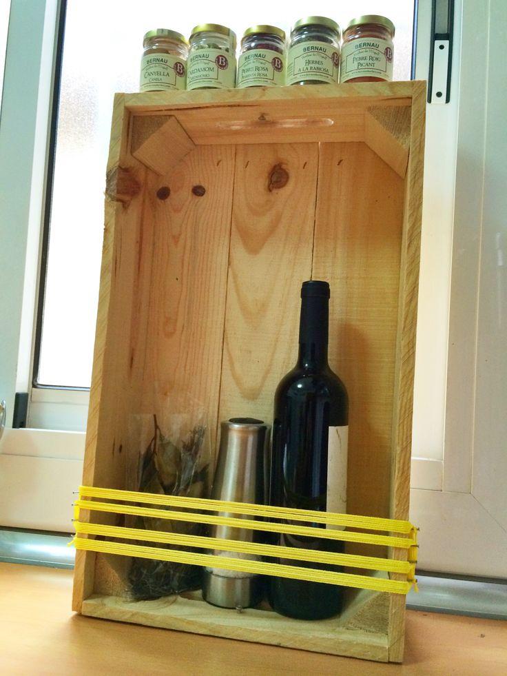 Caja de madera- estantería #caja