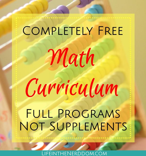 You don't need expensive curriculum to teach math. You can spend LOTS of money before you figure out what works for you. But you don't have to. These resources are full math programs, not supplements.
