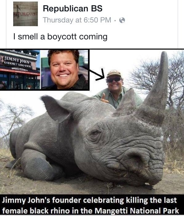 What a dick. Shouldn't support Jimmy John's then!