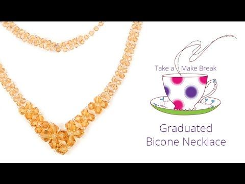 Graduated Bicone Necklace | Take a Make Break | Beads Direct