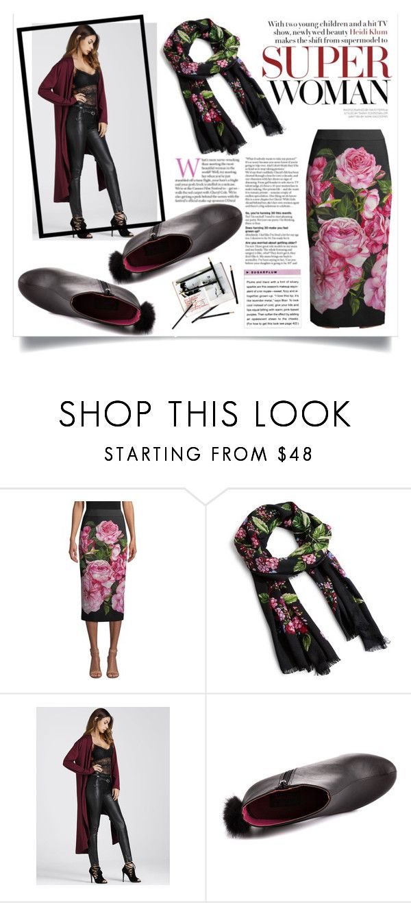 """""""Floral Winter Scarf"""" by atikazahra on Polyvore featuring Dolce&Gabbana, Vera Bradley, Archie Grand, Abbey Dawn and winterscarf"""