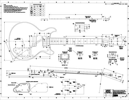 1000 images about guitar plans on pinterest for Printable blueprints