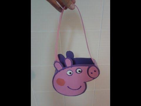 ▶ MANUALIDADES:BOLSO DULCERO PEPPA PIG (PURSE PEPPA PIG) DE GOMA EVA (FOAMI) - YouTube