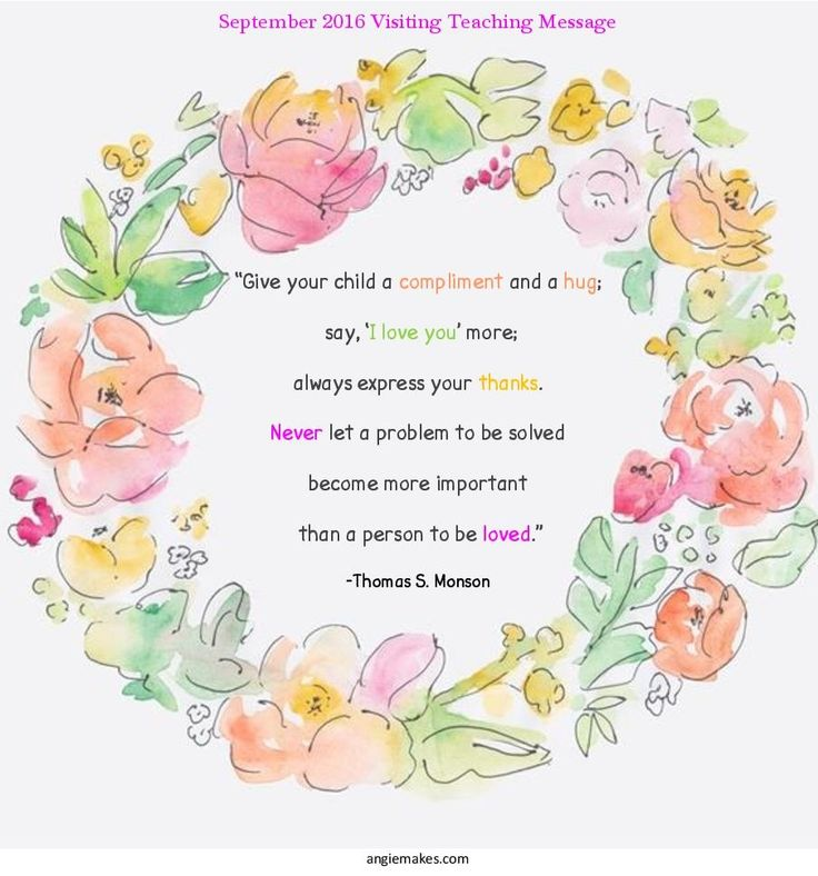 348 best visiting teaching ideas images on pinterest church september 2016 visiting teaching handout negle Image collections