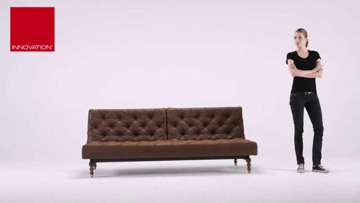 Vintage Leather Sleeper Sofa