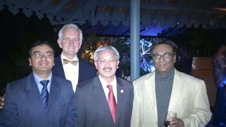 IDOS FOUNDER SRIKANTH WITH MAYOR OF SAN FRANSISCO, ED LEE