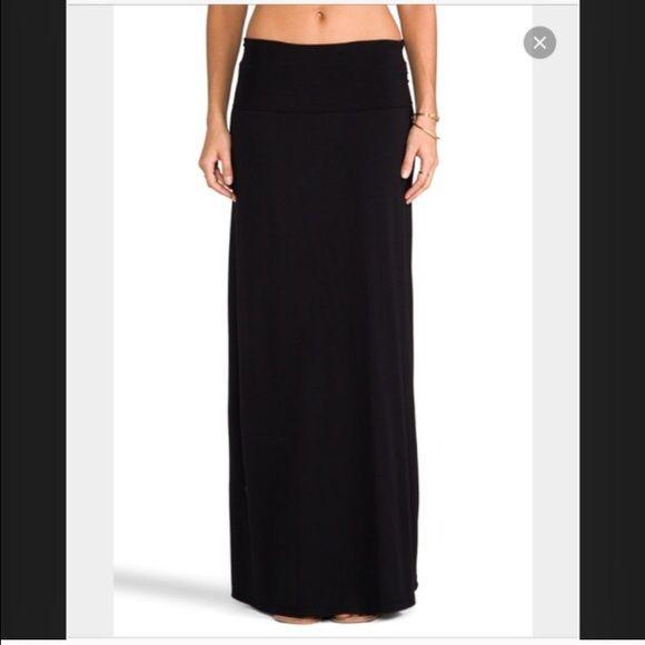 Gorgeous Gap black maxi skirt with slit Gorgeous Gap black maxi skirt with slit GAP Skirts Maxi