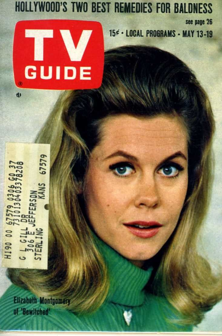 tv  guide  covers | TV GUIDE MAY 1967 ELIZABETH MONTGOMERY OF BEWITCHED - COVER