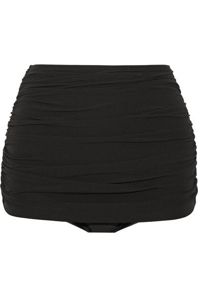 Norma Kamali - Bill Ruched Bikini Briefs - Black - x small