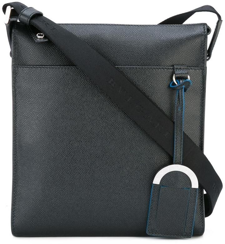 Bulgari front pocket messenger bag