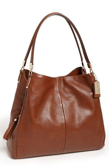 COACH 'Madison - Small Phoebe' Leather Shoulder Bag available at #Nordstrom