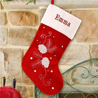 109 best christmas stockings images on pinterest With stocking monogram letters