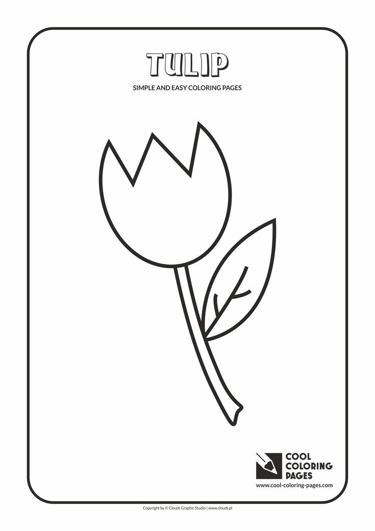 Simple and easy coloring pages for toddlers - Tulip