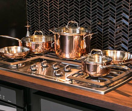 Rose Gold Copper Pots And Pans Appliances And Kitchen