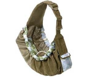 baby sling  for clothespins?  Keep it off to the hip if it could be secured also around waist?
