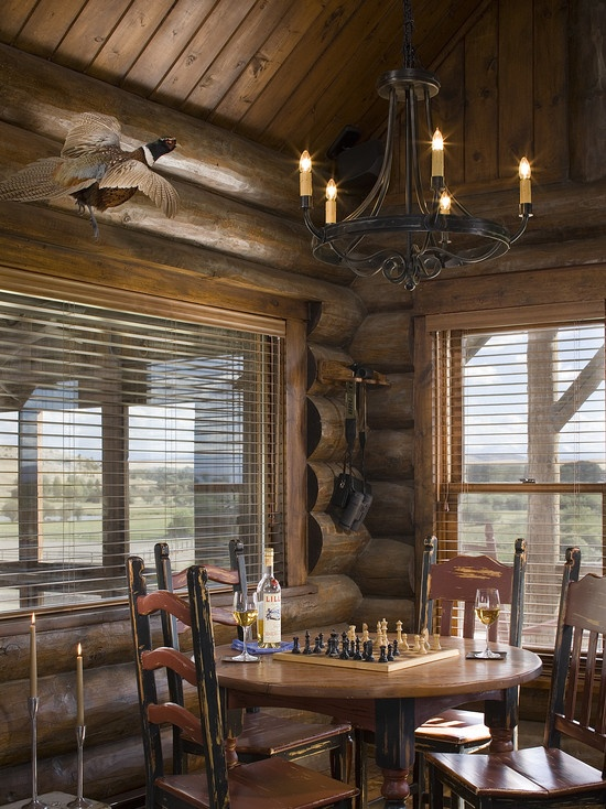 Dining Room Cabin Design, Pictures, Remodel, Decor and Ideas
