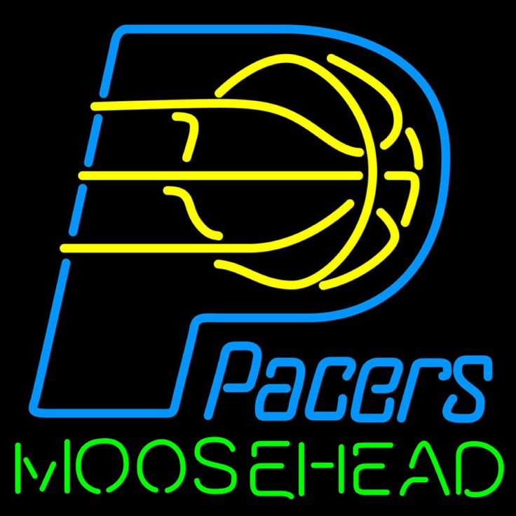 Moosehead Indiana Pacers NBA Neon Beer Sign, Moosehead with NBA Neon Signs | Beer with Sports Signs. Makes a great gift. High impact, eye catching, real glass tube neon sign. In stock. Ships in 5 days or less. Brand New Indoor Neon Sign. Neon Tube thickness is 9MM. All Neon Signs have 1 year warranty and 0% breakage guarantee.