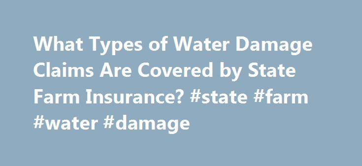 What Types of Water Damage Claims Are Covered by State Farm Insurance? #state #farm #water #damage http://jamaica.nef2.com/what-types-of-water-damage-claims-are-covered-by-state-farm-insurance-state-farm-water-damage/  # What Types of Water Damage Claims Are Covered by State Farm Insurance? credit: Keith Truitt/iStock/Getty Images One of the most common types of water damage occurs as a result of frozen pipes. During the winter, State Farm processes a number of claims that occur because…