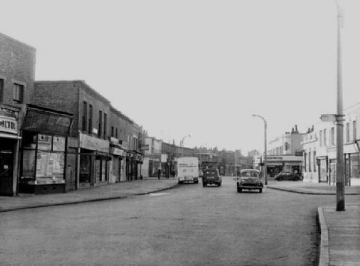 Southwark Park Road in The Blue Shopping Area of Bermondsey South East London England in the 1950's