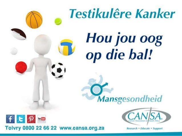 CANSA Mansgesondheid - Testikulêre Kanker - 2014 Afrikaans by CANSA The Cancer Association of South Africa via slideshare