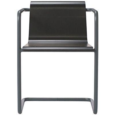 Thonet für Muji Stahlrohr Stuhl Dunkelgrau