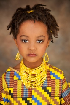 Yellow Beads. Such an elegant young lady!