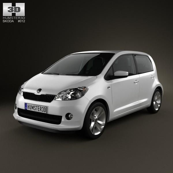 Skoda Citigo 5 Door With Hq Interior 2013 3d Model Ad Door