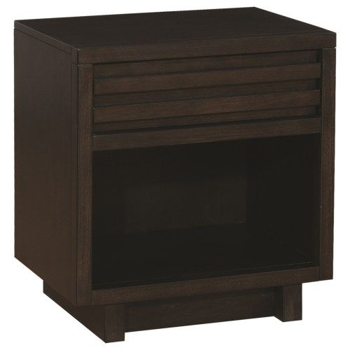Scott Living Matheson Contemporary Nightstand with Finger Tip Drawer - Coaster Fine Furniture